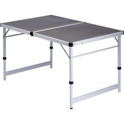 tavolo 120x80 pieghevole in alluminio