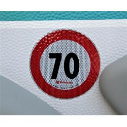 Adesivo catarifrangente 70 KMh