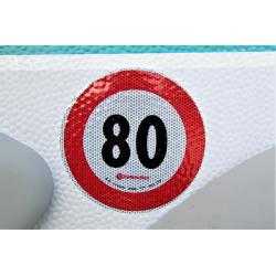 catarifrangente adesivo 80 KMh